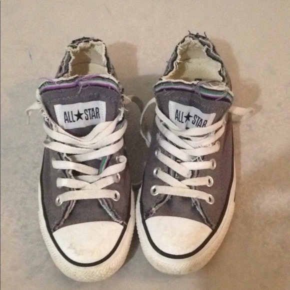 def7a7811f63 Converse Shoes - Converse All Star purple distressed shoe Sz 7